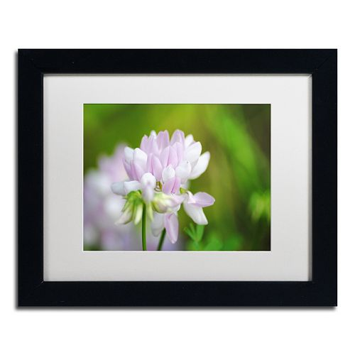 Trademark Fine Art Calm Heart Black Framed Wall Art