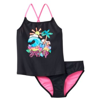 "Girls 7-16 SO® ""Surf's Up"" 2-pc. Tankini Swimsuit Set"