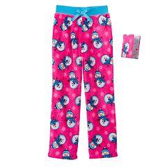 Girls 4-16 Jellifish Flannel Fleece Sleep Pants