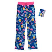 Girls 4-16 Jellifish Flannel Fleece Sleep Pants