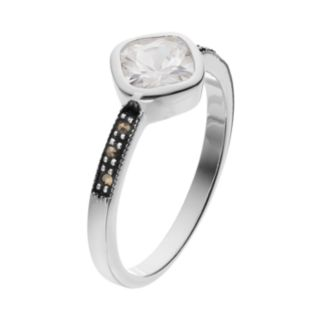 Silver LuxuriesCubic Zirconia & Marcasite Ring