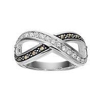 Silver LuxuriesMarcasite & Crystal Infinity Ring