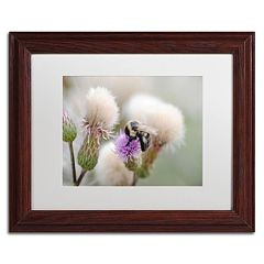 Trademark Fine Art Defeated Wood Finish Framed Wall Art