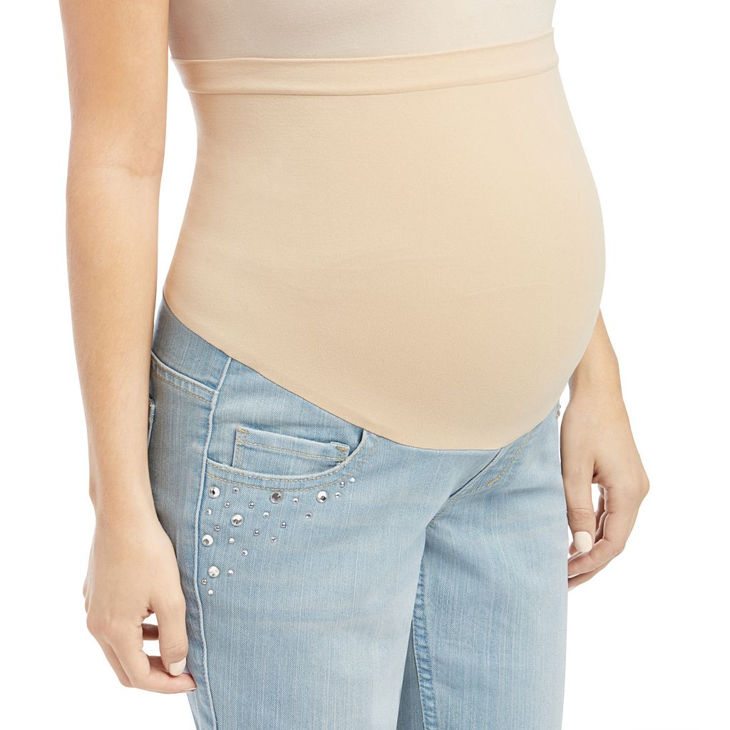 Maternity Oh Baby by Motherhood™ Secret Fit Belly™ Embellished Skinny Jeans