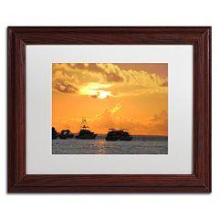Trademark Fine Art Dreamily Wood Finish Framed Wall Art