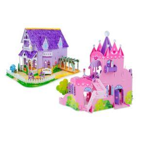 Melissa & Doug Dollhouse & Palace 3D Puzzle Bundle