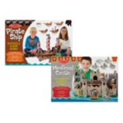 Melissa & Doug Pirate Ship & Castle 3D Puzzle Bundle