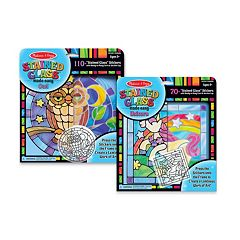 Melissa & Doug Owl & Unicorn Stained Glass Made Easy Craft Bundle