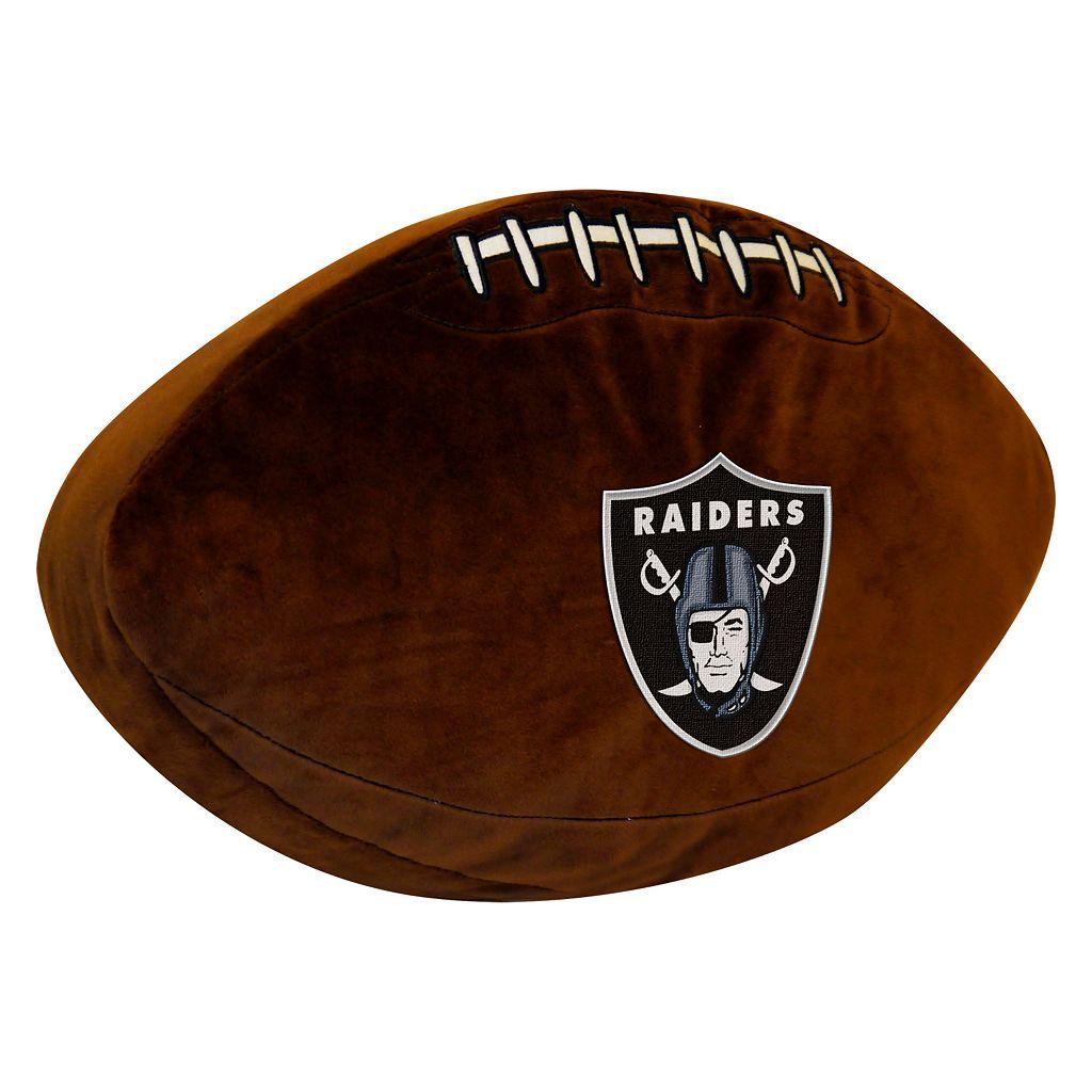 Oakland Raiders Football Pillow