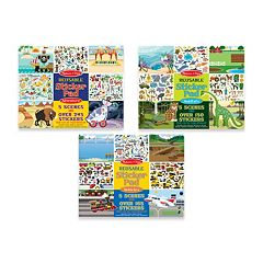 Melissa & Doug Vehicles, Habitats & Adventure Reusable Sticker Pad Bundle