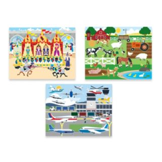 Melissa & Doug Vehicles, Habitats & Adventure Reusable Sticker Pad Bundle