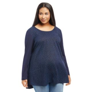 Plus Size Maternity Oh Baby by Motherhood™ Mixed-Media Tunic