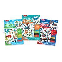 Melissa & Doug Vehicles, Ocean & Adventure Mess-Free Glitter Foam Sticker Bundle