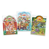 Melissa & Doug Pirate, Safari & Farm Puffy Sticker Bundle