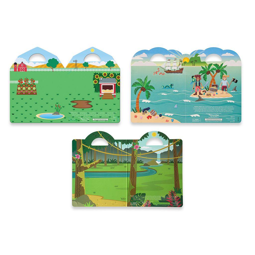 Melissa & Doug Pirate, Safari & Farm Puffy Sticker Bundle
