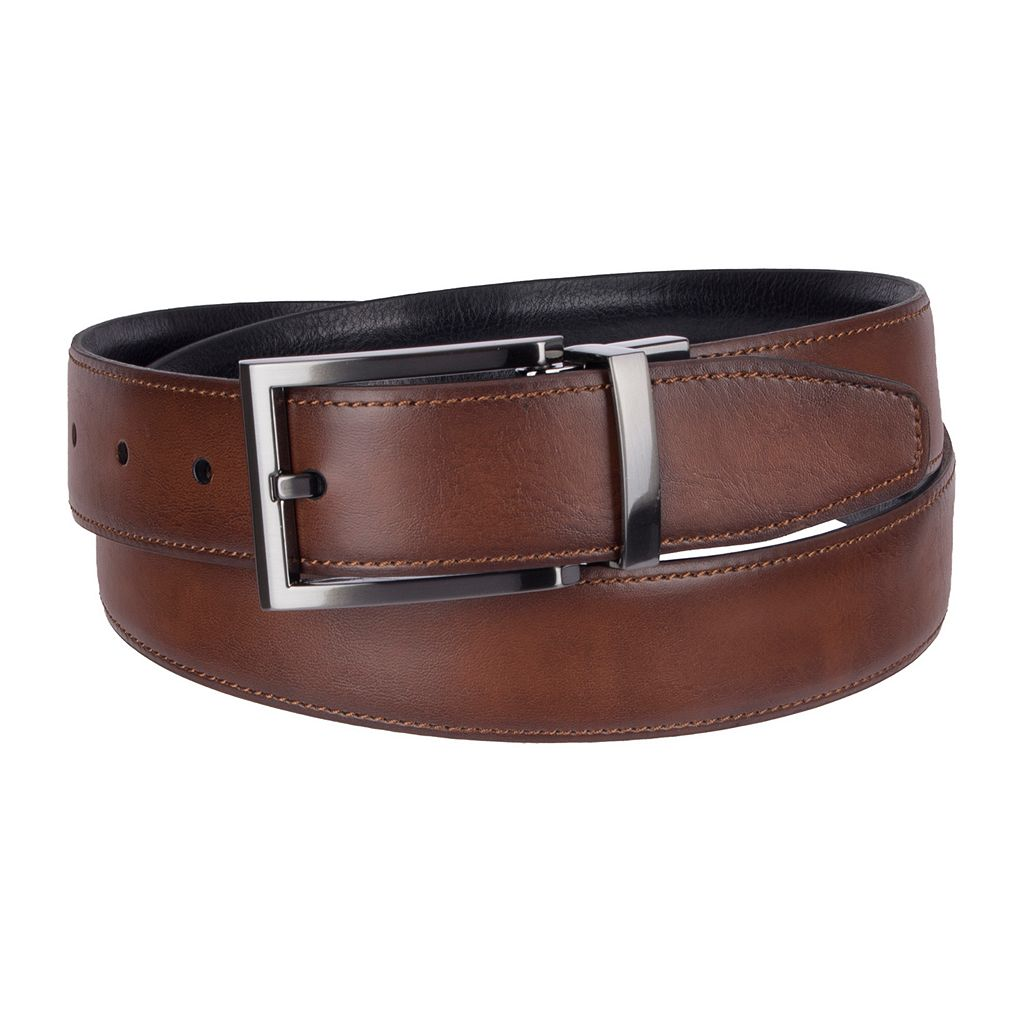 Men's Croft & Barrow® Reversible Feather-Edge Belt