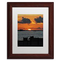Trademark Fine Art Exhale Wood Finish Framed Wall Art
