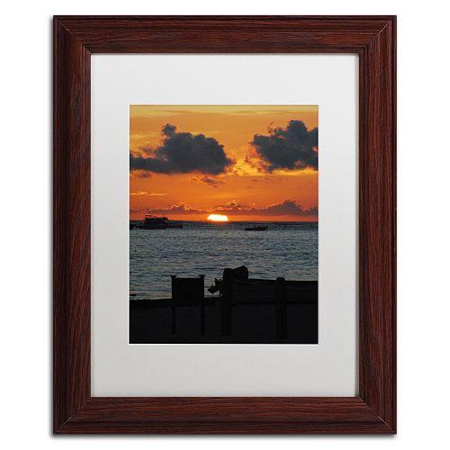 Trademark Fine Art Exhale Wood Finish Framed Wall Art