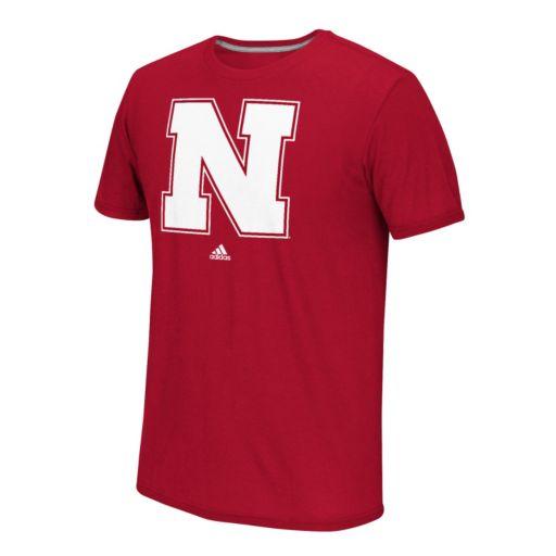 Men's adidas Nebraska Cornhuskers School Logo Tee