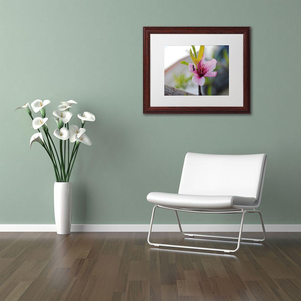 Trademark Fine Art Expressive Individuality Wood Finish Framed Wall Art