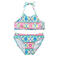 Girls 7-16 SO® Sequin Tribal 2-pc. Halter Bikini Swimsuit Set