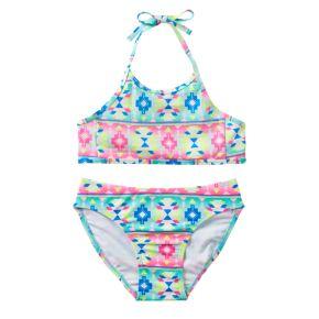 Girls 7-16 SO® Sequin Tribal 2-pc. Halter Bikini Swimsuit Set