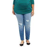 Plus Size Maternity Oh Baby by Motherhood™ Secret Fit Belly™ Ripped Skinny Jeans