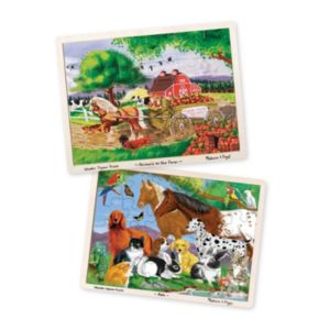 Melissa & Doug Pets & Farm Animals 24-pc Jigsaw Puzzle Bundle