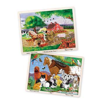 Melissa & Doug Pets & Farm Animals 24-pc Jigsaw Puzzle Bundle