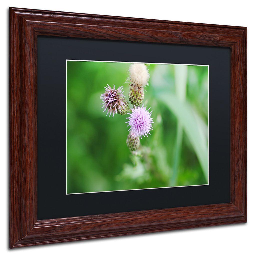 Trademark Fine Art Fearless Beauty Wood Finish Framed Wall Art