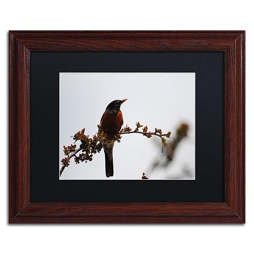 Trademark Fine Art Guardian Wood Finish Framed Wall Art