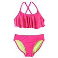 Girls 7-16 SO® Perforated Palm Trees 2-pc. Bikini Swimsuit Set
