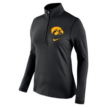 Women's Nike Iowa Hawkeyes Tailgate Quarter-Zip Top
