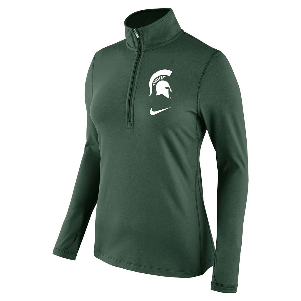 Women's Nike Michigan State Spartans Tailgate Quarter-Zip Top