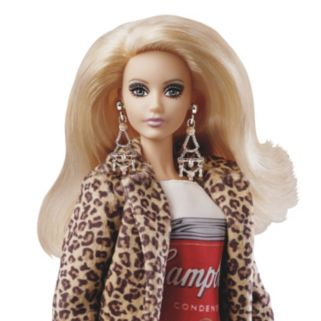 Barbie Andy Warhol Campbell's Soup Barbie Doll
