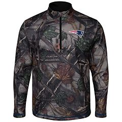 Men's Majestic New England Patriots The Woods Half-Zip Pullover