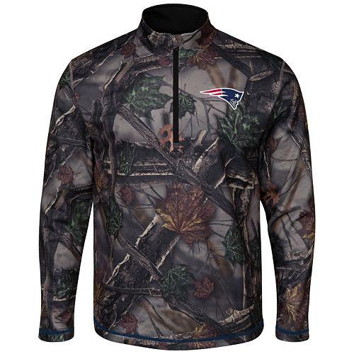 Men's Majestic New EnglandPatriots The Woods Half-Zip Pullover