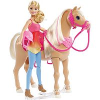 Barbie® Blonde Hair Barbie Doll & Dancin Fun Horse Set