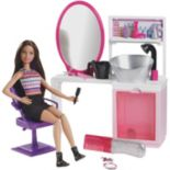 Barbie Sparkle Style Salon with Doll