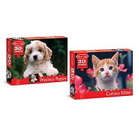 Melissa & Doug Puppy & Kitten 30-pc. Cardboard Jigsaw Puzzle Set