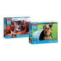 Melissa & Doug Puppy & Kitten 60-pc. Cardboard Jigsaw Puzzle Bundle