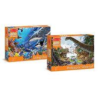 Melissa & Doug Ocean & Dinosaurs 200-pc. Cardboard Jigsaw Puzzle Set