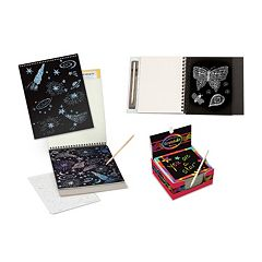 Melissa & Doug Sketch Pad, Doodle Pad & Notes Scratch Art Bundle