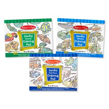 Melissa & Doug Animals, Vehicles & Multi-Theme Coloring Pad Bundle