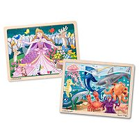 Melissa & Doug Under The Sea & Woodland Princess 24-pc. Jigsaw Puzzle Bundle