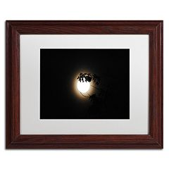 Trademark Fine Art Howl Wood Finish Framed Wall Art