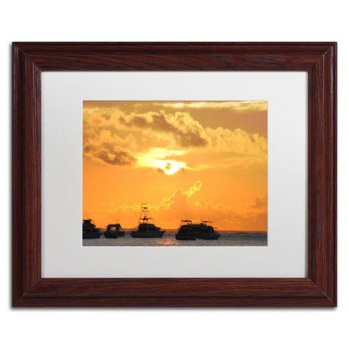 Trademark Fine Art Kipona Aloha Wood Finish Framed Wall Art
