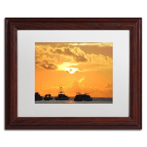 Trademark Fine Art Kipona Aloha Wood Finish Framed Wall Art