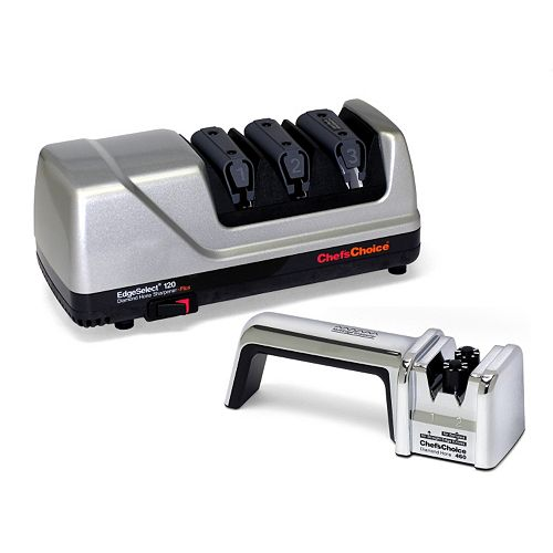 Chef'sChoice Platinum Sharpener with Chrome Combo Pack