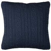 IZOD Brisbane Cable Knit Throw Pillow